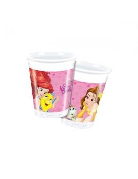 Bicchieri di Plastica Principesse da 200 ml