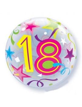 """Palloncino Mylar Bubble 18 Anni da 22"""""""