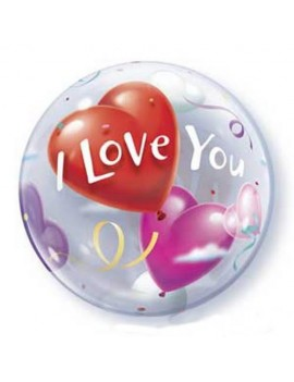 Palloncino Mylar Bubble I Love You da 22""