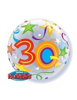 """Palloncino Mylar Bubble 30 Anni da 22"""""""