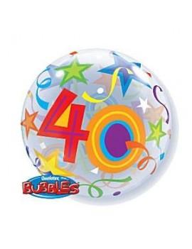 """Palloncino Mylar Bubble 40 Anni da 22"""""""