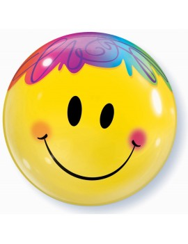 Palloncino Mylar Bubble Smile da 22""