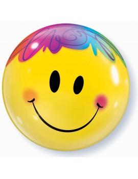 "Palloncino Mylar Bubble Smile da 22"""