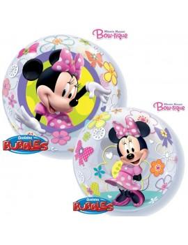 "Palloncino Bubble Minnie Mouse Bow-Tique da 22"""