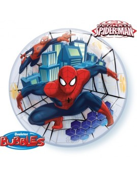 Palloncino Bubble Spiderman da 22""