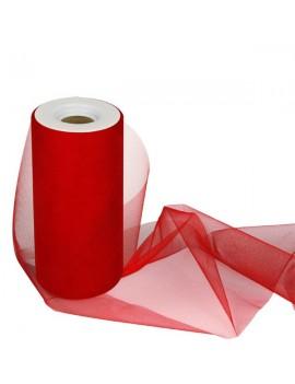Tulle Colore Rosso 15 cm x 25 m