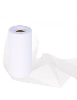 Tulle Colore Bianco 15 cm x 25 m