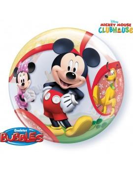 "Palloncino Mylar Bubble Mickey Mouse da 22"""