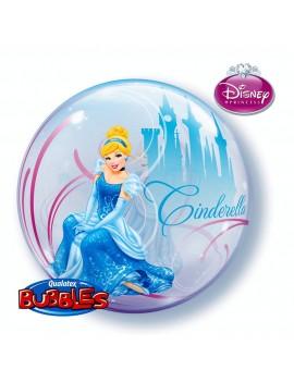 "Palloncino Bubble Cinderella da 22"""