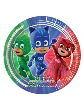 Piattini di Carta Pj Masks - Super Pigiamini (8 pz)