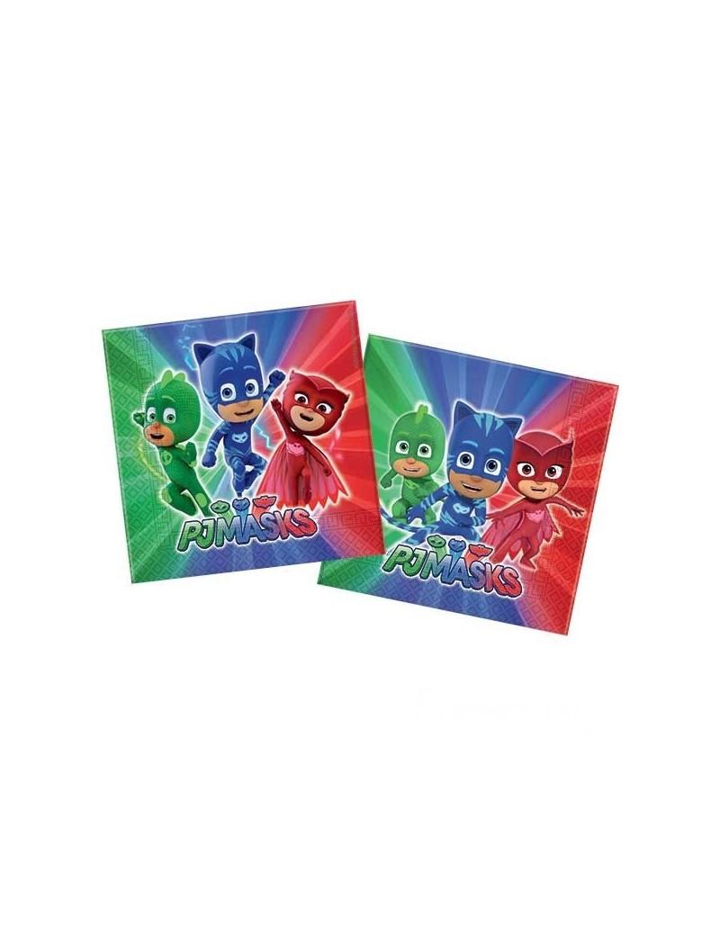 Tovaglioli di Carta Pj Masks - Super Pigiamini (20 pz)