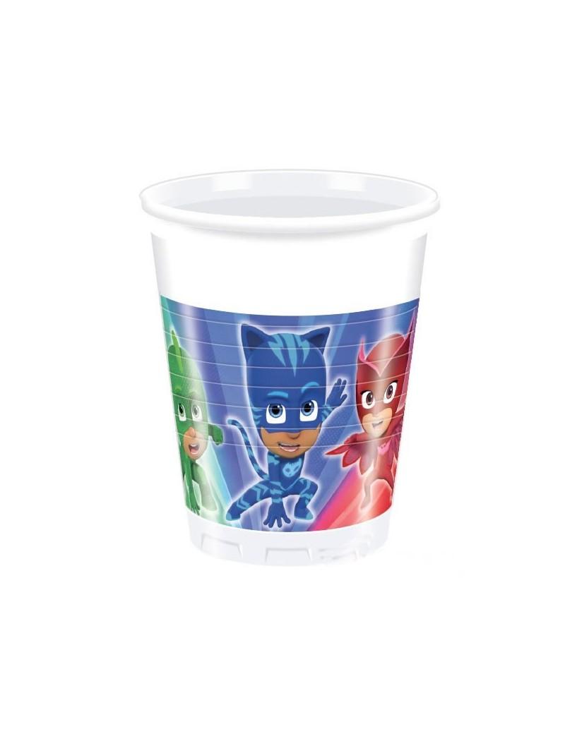 Bicchieri di Plastica Pj Masks - Super Pigiamini da 200 ml (8 pz)
