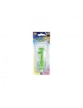 Candelina Verde Fluo Numero 1