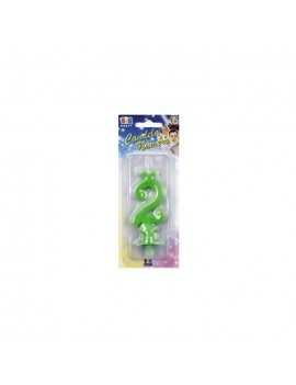 Candelina Verde Fluo Numero 2
