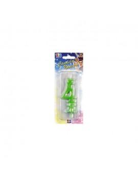 Candelina Verde Fluo Numero 4