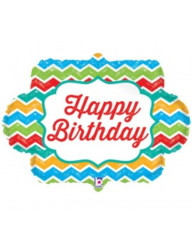 Palloncino Nuvoletta Multicolor Happy Birthday