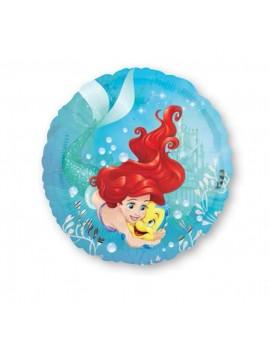 "Palloncino Ariel Sirenetta Disney Tondo 18"""