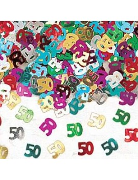 Confetti Decorativi Numero 50 Multicolor