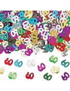 Confetti Decorativi Numero 60 Multicolor