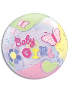 """Palloncino Mylar Bubble Baby Girl da 22"""""""