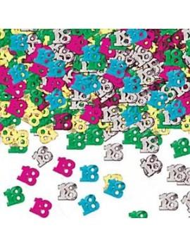 Confetti Decorativi Numero 18 Multicolor