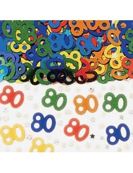 Confetti Decorativi Numero 80 Multicolor