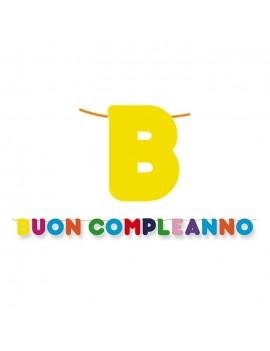 Festone Buon Compleanno Multicolor