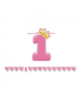 Festone Rosa Buon Primo Compleanno