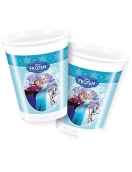 Bicchieri Frozen Ice Skating da 200 ml (8 pz)