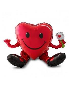 Palloncino Cuore Smile Love Rosso