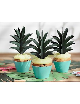 Picks Toppers Ananas per CupCake 3D