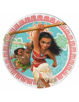 Piattini Oceania Disney 20 cm (moana) pz.8