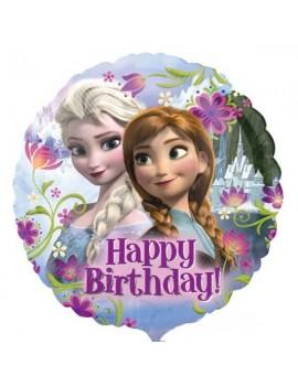 Palloncino Tondo Frozen Happy Birthday