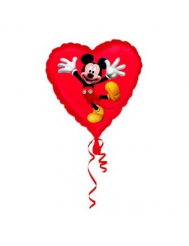 Palloncino Mickey Mouse Cuore Rosso