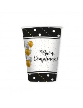 Bicchieri Buon Compleanno Prestige da 200 ml (8 pz)