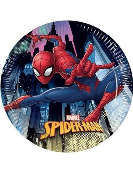 Piatti di Carta Spiderman Team (8 pz)