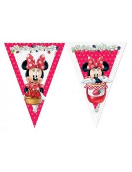 Festone Bandierina Minnie Mouse Rosso