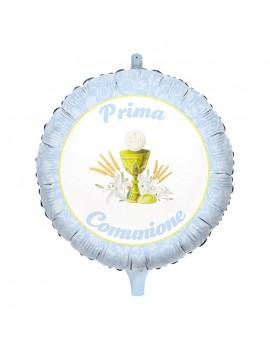 """Palloncino Prima Comunione Celeste 18"""""""