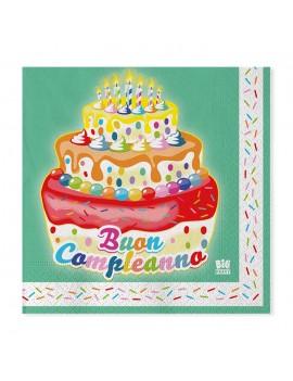 Tovaglioli Torta Compleanno (20 pz)
