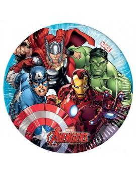 Piattini di Carta Avengers Mighty da 20 cm (8 pz)