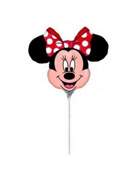 Mini Palloncino Minnie Mouse Fiocco Rosso