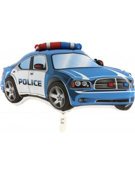Palloncino Macchina Polizia Blu in Mylar