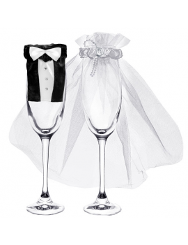 Copri Bicchieri Sposo e Sposa