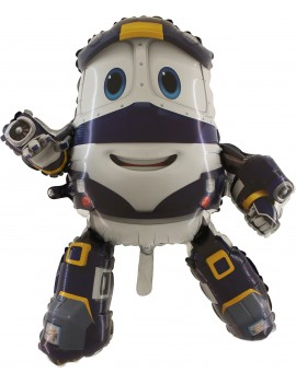 Palloncino Kay Robot Trains in Mylar
