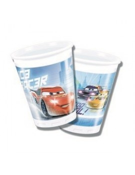 Bicchieri di Plastica Cars Ice da 200 ml (8 pz)