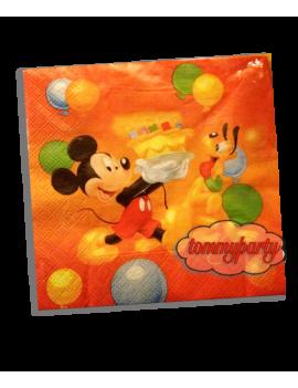 Tovaglioli di Carta Mickey Mouse Palloncini 33x33
