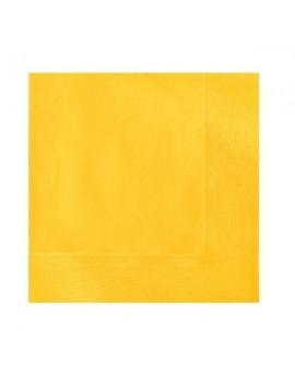 Tovaglioli di Carta Gialli 33x33