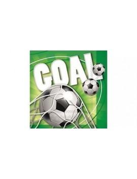 Tovaglioli di Carta Calcio Goal 33x33cm