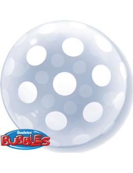 """Palloncino Mylar Bubble Trasparente a Pois 20"""""""