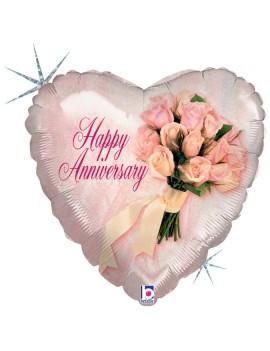 Palloncino Cuore Happy Anniversary